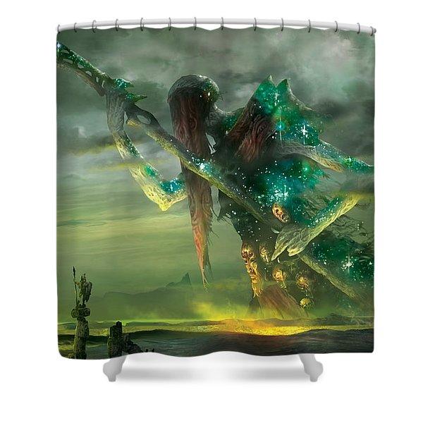 Athreos God Of Passage Shower Curtain
