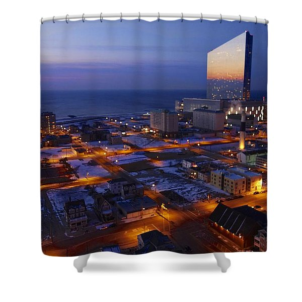 Atlantic City At Dawn Shower Curtain
