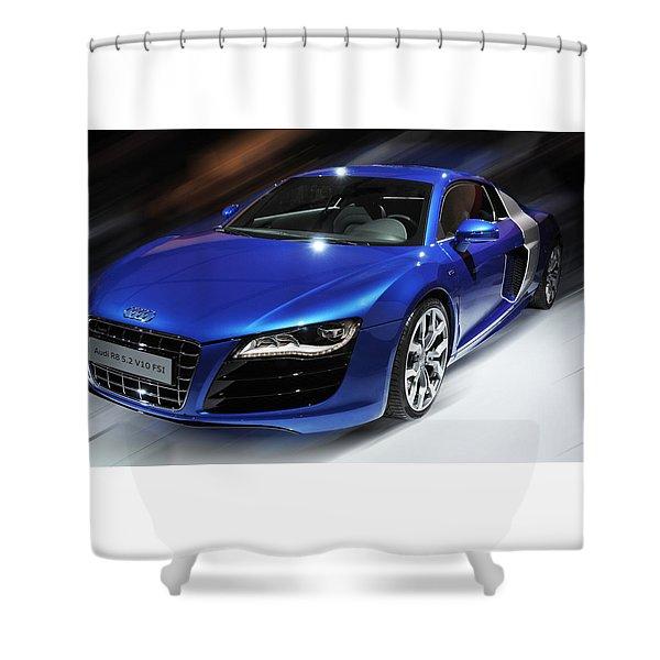 Audi R8 V10 Fsi Shower Curtain