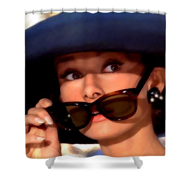 Audrey Hepburn @ Breakfast At Tiffany's Shower Curtain