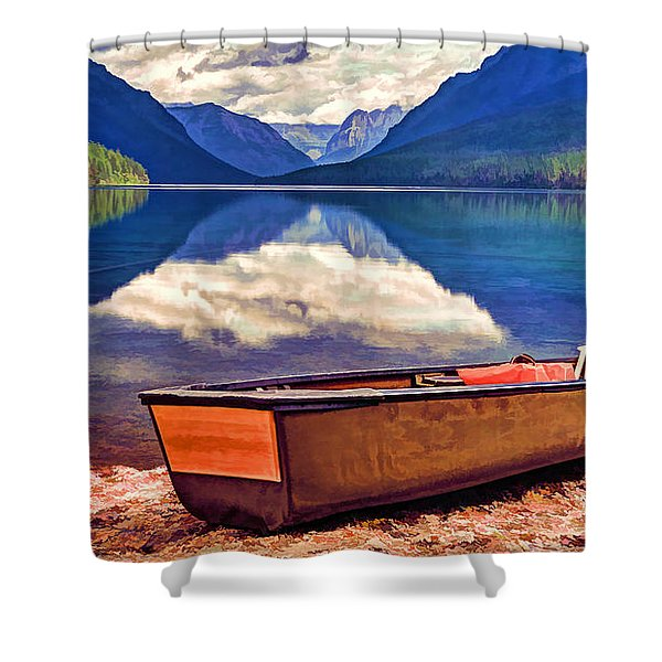 August Afternoon At The Lake Shower Curtain