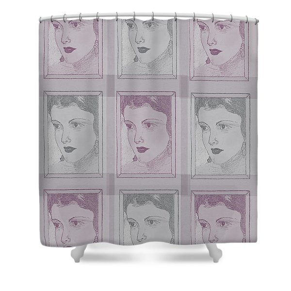 Aunt Edie Print Shower Curtain