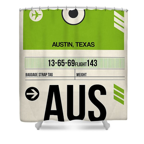 Austin Airport Poster 1 Shower Curtain