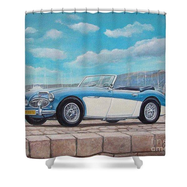 Austin Healey Bj8 Mark IIi Shower Curtain