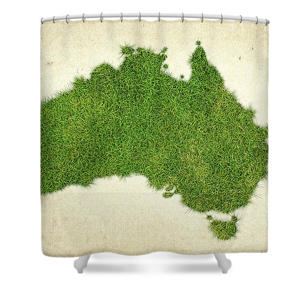 Australia Grass Map Shower Curtain