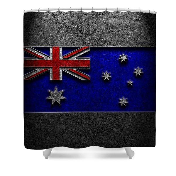 Australian Flag Stone Texture Shower Curtain