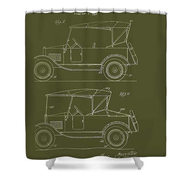Automobile Body Patent 1924 Shower Curtain