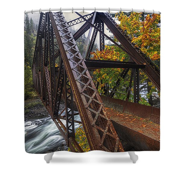 Autumn And Iron Shower Curtain