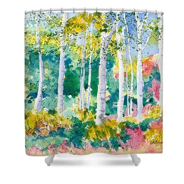 Autumn Aspen Shower Curtain
