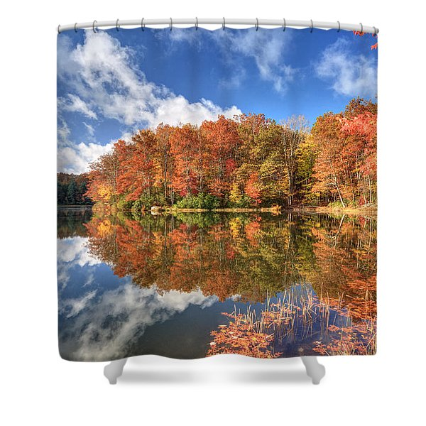 Autumn At Boley Lake Shower Curtain