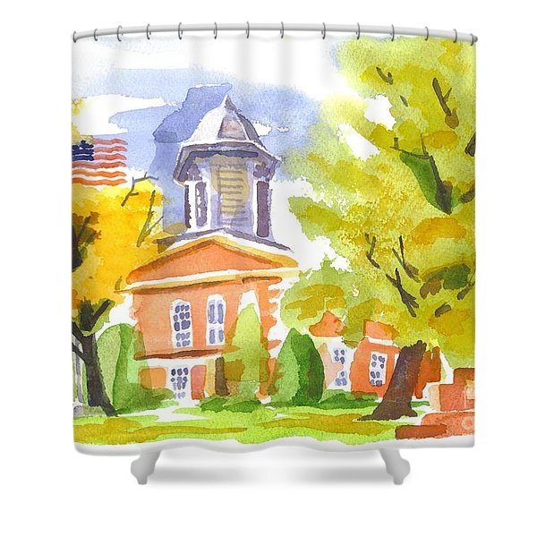 Autumn At The Courthouse Shower Curtain