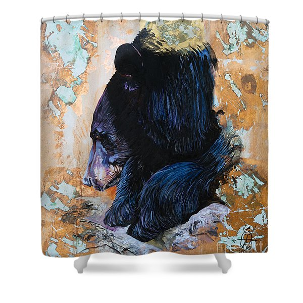 Autumn Bear Shower Curtain