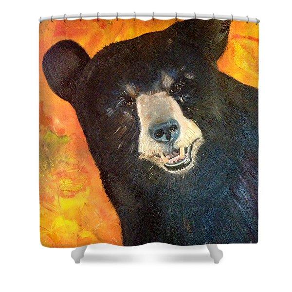 Autumn Bear Shower Curtain