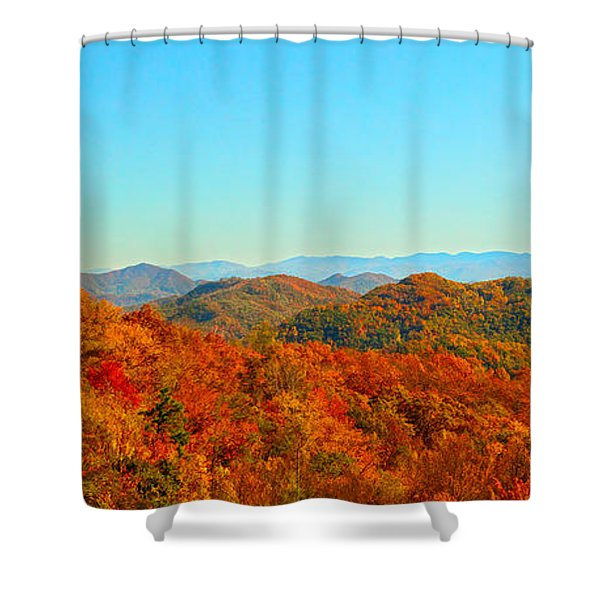 Autumn Blue Ridge Shower Curtain