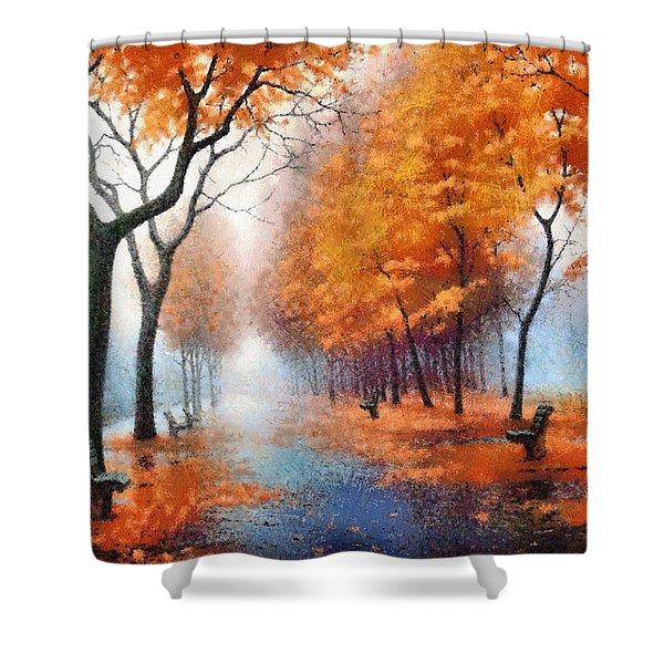 Autumn Boulevard Shower Curtain