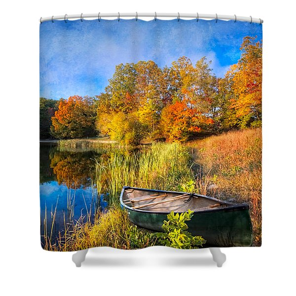 Autumn Canoe Shower Curtain