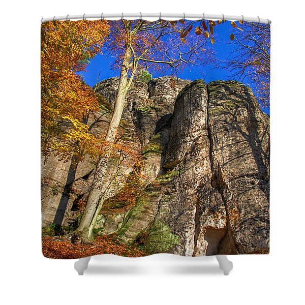 Autumn Colors In The Saxon Switzerland Shower Curtain