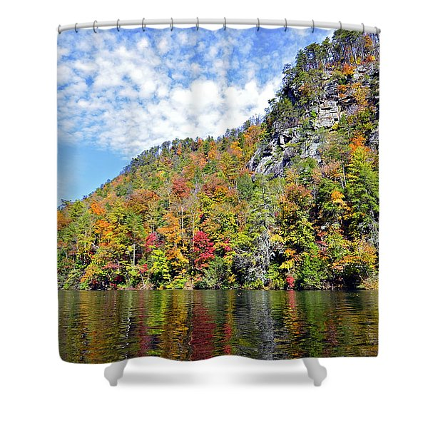 Autumn Colors On A Lake Shower Curtain