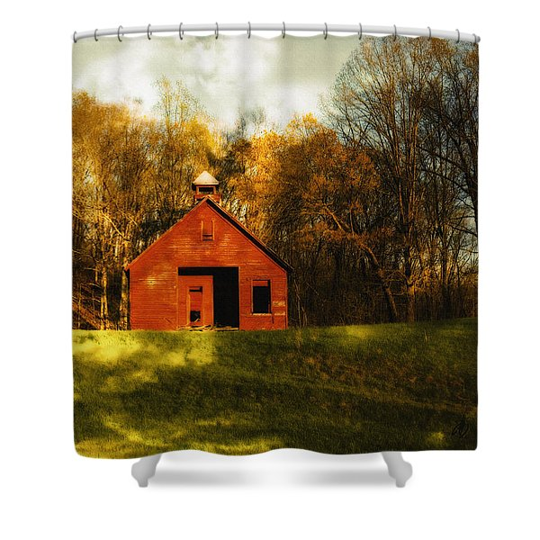 Autumn Day On School House Hill Shower Curtain