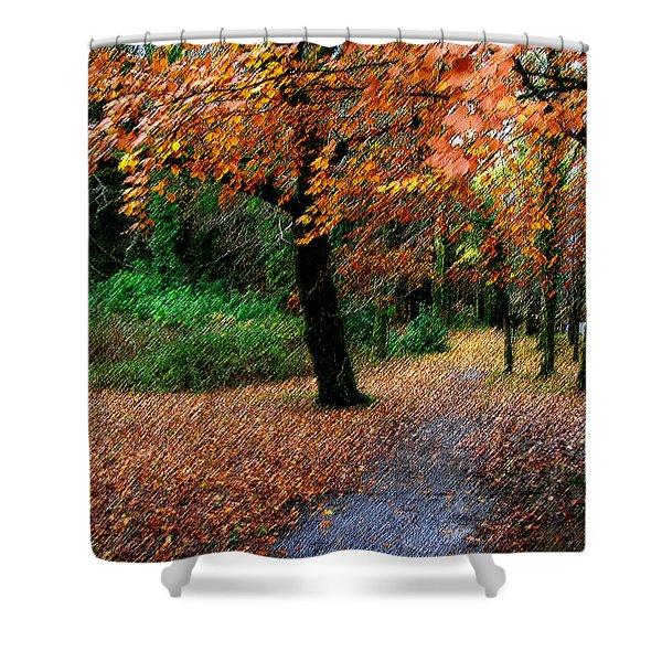 Autumn Entrance To Muckross House Killarney Shower Curtain