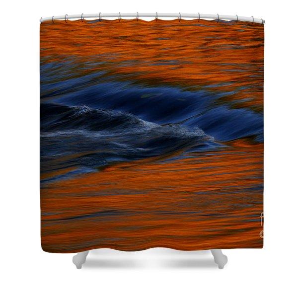 Autumn River Georgia Shower Curtain