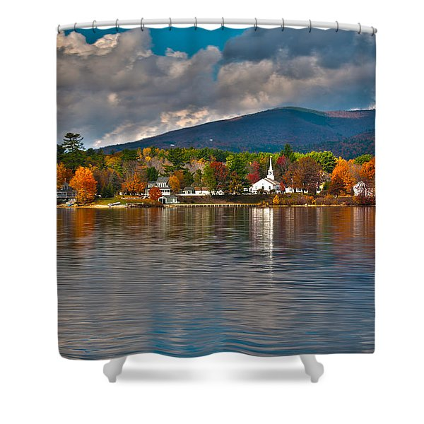 Autumn In Melvin Village Shower Curtain