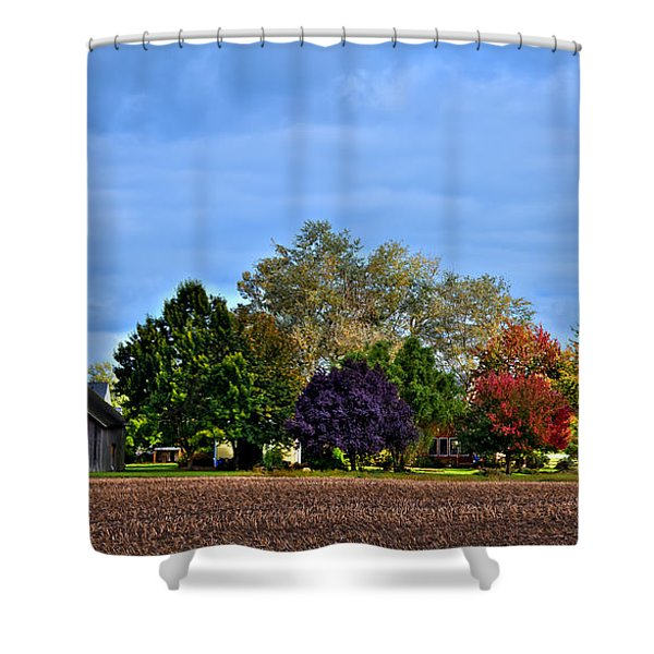Autumn In Mount Vernon Washington Shower Curtain