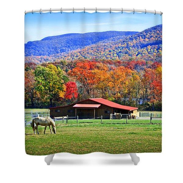 Autumn In Rural Virginia  Shower Curtain