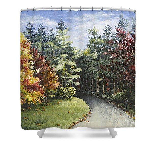Autumn In The Arboretum Shower Curtain