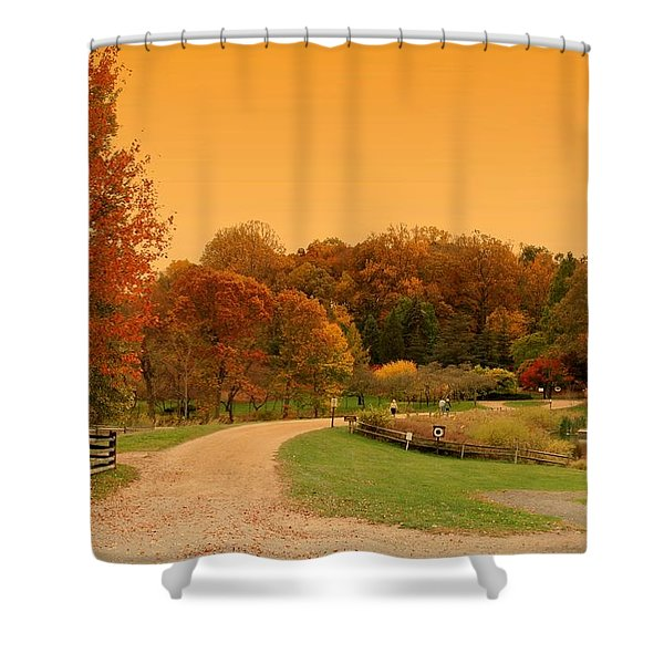Autumn In The Park - Holmdel Park Shower Curtain