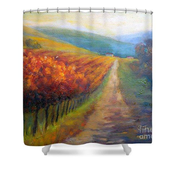 Autumn In The Vineyard Shower Curtain