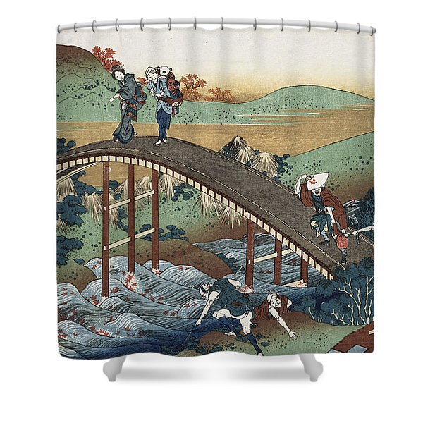 Autumn Leaves On The Tsutaya River Shower Curtain