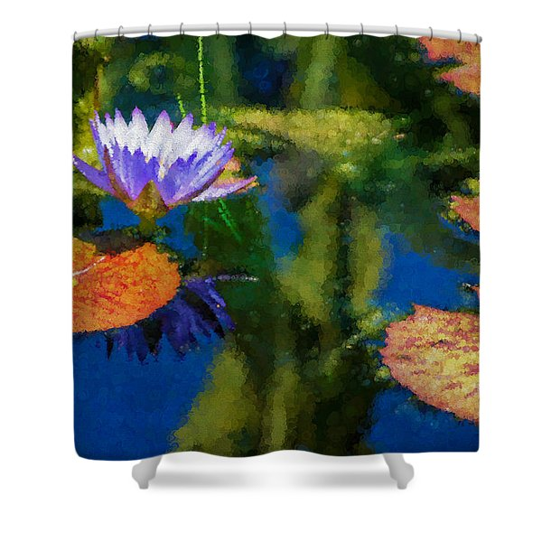 Autumn Lily Pad Impressions Shower Curtain
