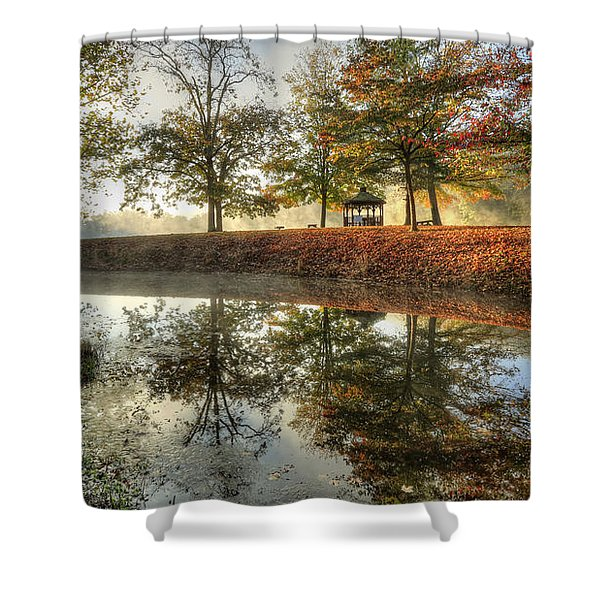Autumn Morning Shower Curtain