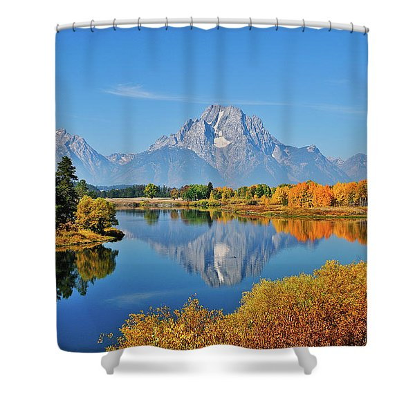 Autumn Reflections At Oxbow Bend Shower Curtain