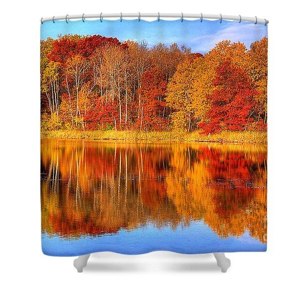 Autumn Reflections Minnesota Autumn Shower Curtain