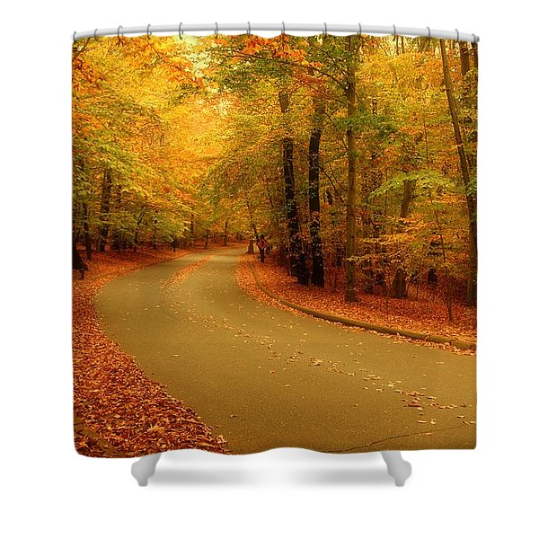 Autumn Serenity - Holmdel Park  Shower Curtain