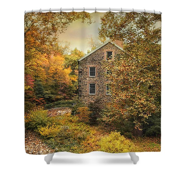 Autumn Stone Mill Shower Curtain