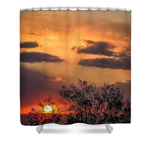 Autumn Sunrise Shower Curtain