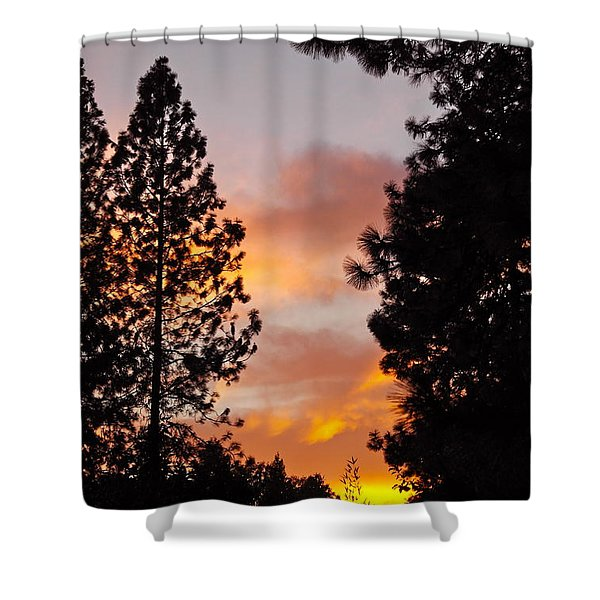 Autumn Sunset Shower Curtain
