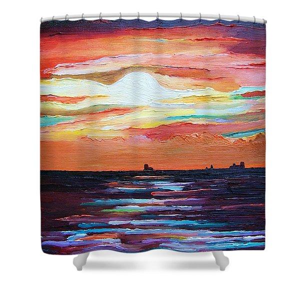 Autumn Sunset On The Baltic Sea Shower Curtain