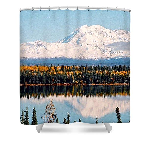 Autumn View Of Mt. Drum - Alaska Shower Curtain