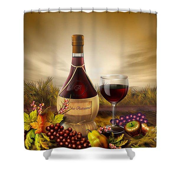 Autumn Wine Shower Curtain