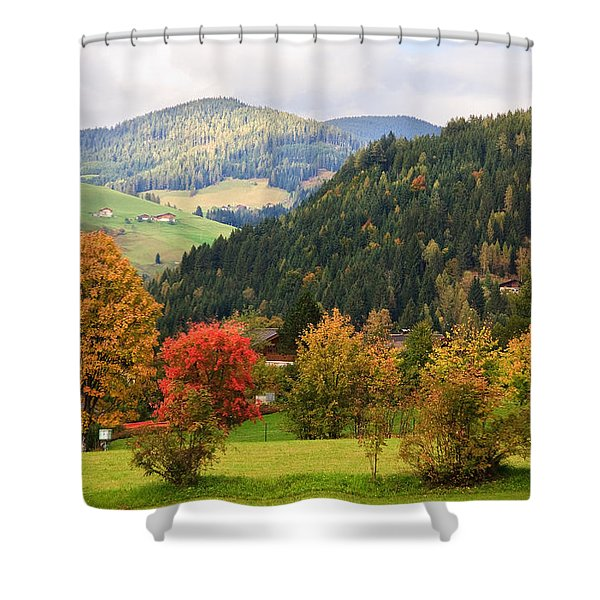 Autumnal Colours In Austria Shower Curtain