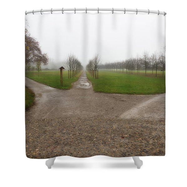 Autumnal Countryscape Shower Curtain
