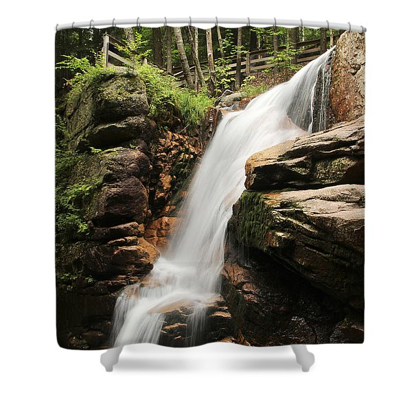 Shower Curtain featuring the photograph Avalanche Falls by Jemmy Archer