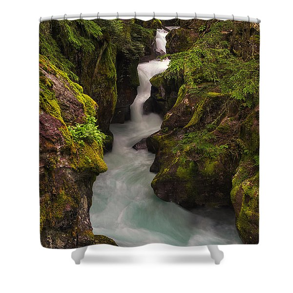 Avalanche Falls Shower Curtain