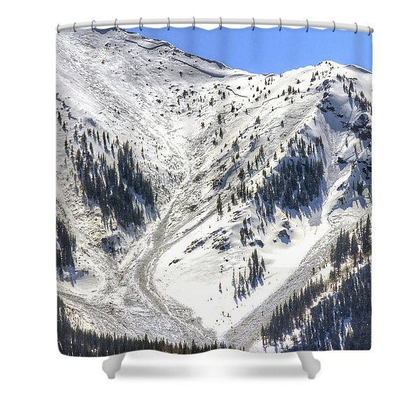 Avalanches In Colorado Shower Curtain