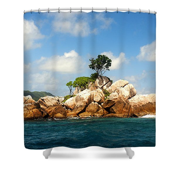 Ave Maria Rocks Shower Curtain