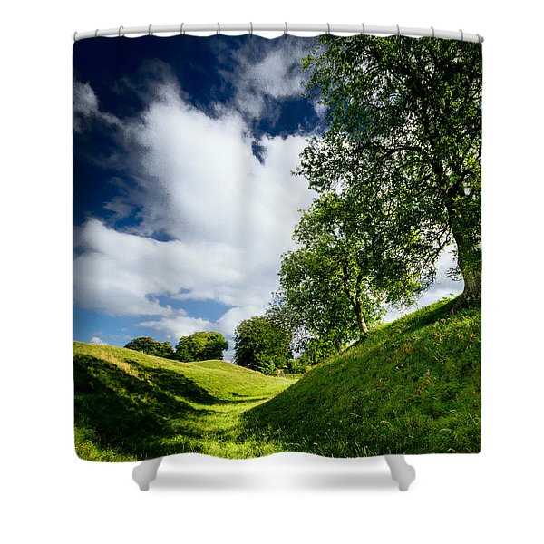 Avebury Hillside Shower Curtain
